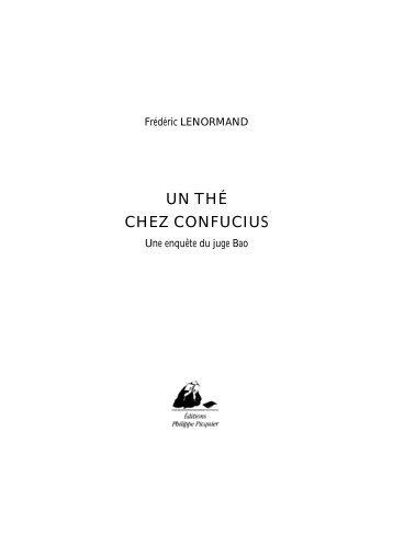 un the chez confucius(75 kb) - Editions Philippe Picquier