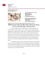 MTS Marketing Communications, Cary - MTS Sensors