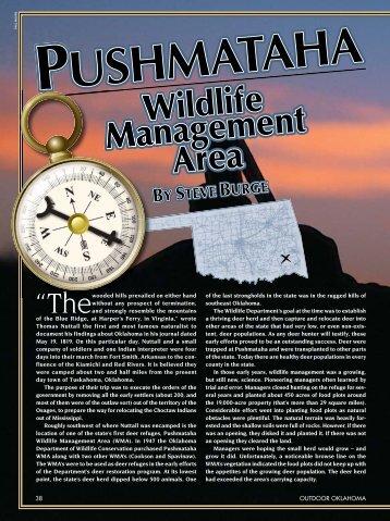 Pushmataha WMA - Outdoor Oklahoma Magazine Article