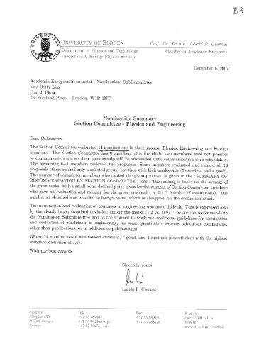 Physics - Academia Europaea