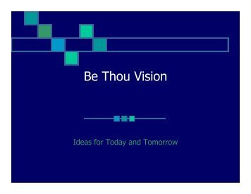 Be Thou Vision - Council for Christian Colleges & Universities