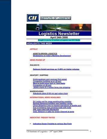 Logistics Newsletter - CII Institute of Logistics