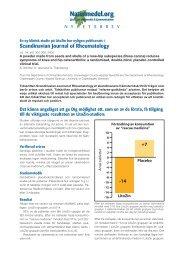 Scandinavian Journal of Rheumatology - Scientific Communication AB
