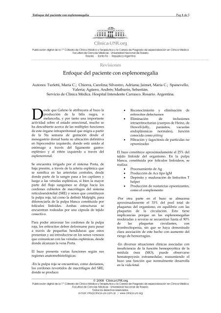 Esplenomegalia enfermedad hepática crónica