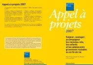 Appels à projets 2007 - CNRD