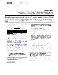 Transcript request form - UCLA Center for Prehospital Care