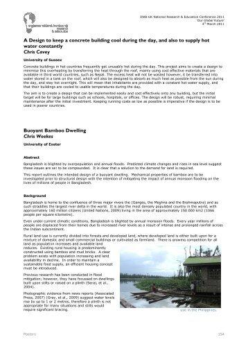Buoyant Bamboo Dwelling - Engineers Without Borders UK