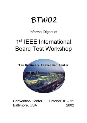 1st IEEE International Board Test Workshop