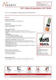 K23 - Câbles de signalisation / NF F 55-623 - Nexans