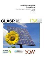 Lancashire Sustainable Energy Study - Fylde Borough Council