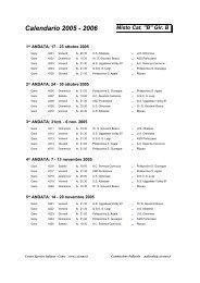 Calendario 2005 - 2006 - Broggisas.it