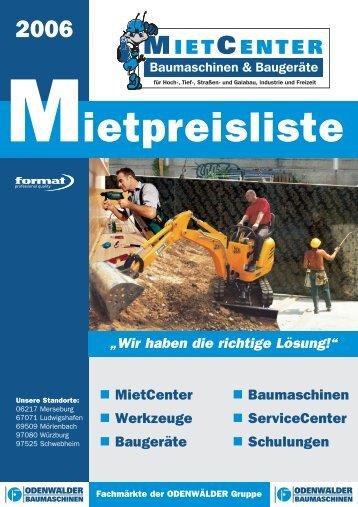 Grip Stützenschalung - Odenwälder Baumaschinen Gruppe