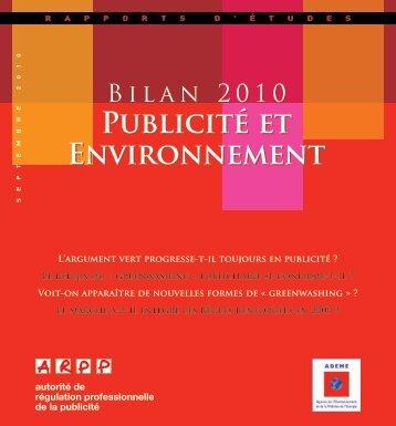 Publicité et Environnement Publicité et Environnement - Ademe