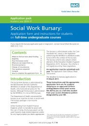 Full time bursary - NHS Business Services Authority
