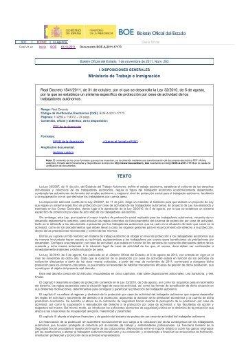 BOE.es: Documento BOE-A-2011-17173 de 01/11 ... - construmecum