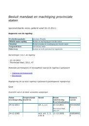 Besluit mandaat en machtiging provinciale staten - Provincie Drenthe