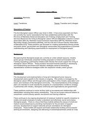 Aboriginal Liaison Officer Jurisdiction: Manitoba Contact: Cheryl ...