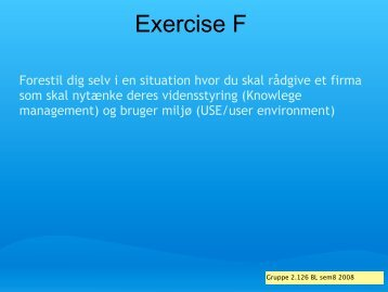 Exercise F - It.civil.aau.dk