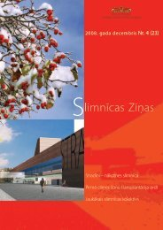 Slimnīcas Ziņas, decembris, 2008 - P. Stradiņa Klīniskā universitātes ...