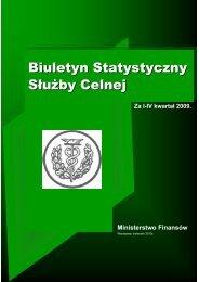 Biuletyn Statystyczny Słuzby Celnej za rok 2009 - E-play