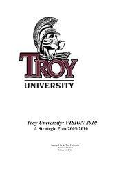Troy University: VISION 2010
