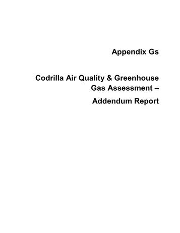 Appendix Gs Air Quality and Greenhouse Gas ... - Peabody Energy
