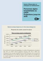 Personnes âgées hospitalisées au CHUV Projections jusqu ... - IUMSP