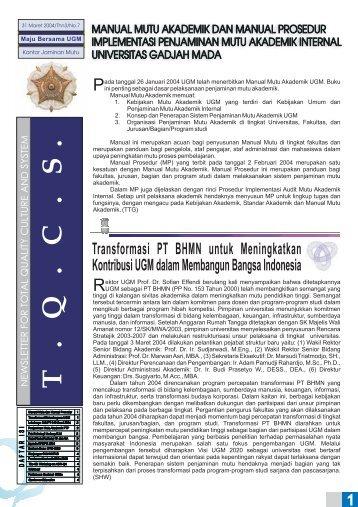 07.Edisi_Maret_2004 - Kantor Jaminan Mutu - Universitas Gadjah ...