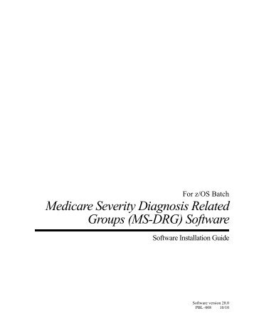 (MS-DRG) Software - National Technical Information Service