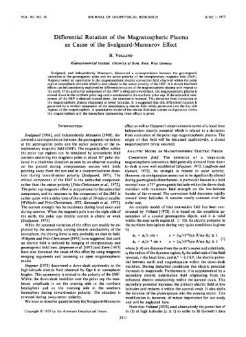 Differential Rotation of the Magnetospheric Plasma as Cause of the ...