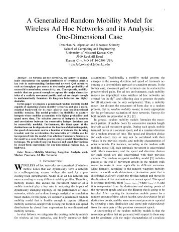 One-Dimensional Case - UMKC School of Computing and ...