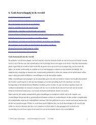 6. Gods heerschappij in de wereld - labuschagne
