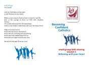 Becoming Confident Catholics - Archdiocese of St Andrews and ...