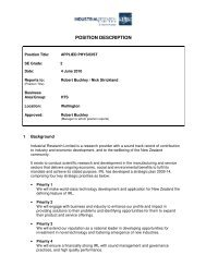 POSITION DESCRIPTION - Industrial Research Limited