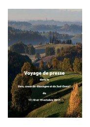 voyage de presse - Comité Départemental du Tourisme et des ...