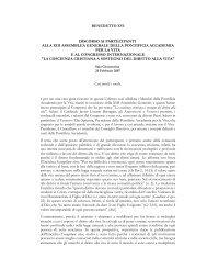 Discorso di Benedetto XVI ai partecipanti all ... - ArezzoGiovani.it
