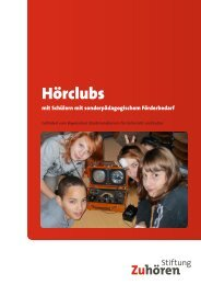 Hörclubs - Stiftung Zuhören