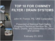 Top 10 for Chimney Filter/Drain Systems (PowerPoint Slides)