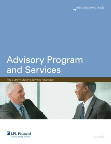 Advisory Program and Services - LPL Financial