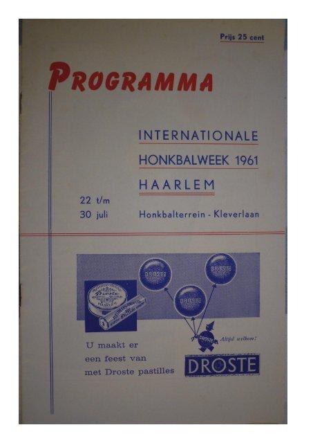 HONKBALWEEK 1961 H A A R L E M - Project COBB