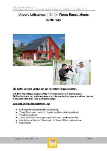 und Leistungsbeschreibung Innovationshaus INNO 146 - Ytong ...