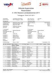 Offizielle Ergebnisliste Riesenslalom 4. VSV Diezano ... - Wsvaltach.at