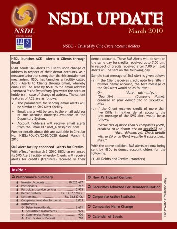 March 2010 - NSDL