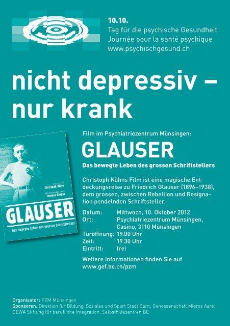 nicht depressiv – nur krank - 10.10. Tag für die psychische Gesundheit