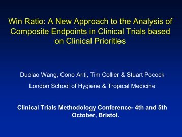 Win Ratio: a new approach to the analysis of composite endpoints in ...