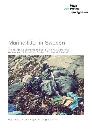 Marine litter in Sweden - Havs- och vattenmyndigheten