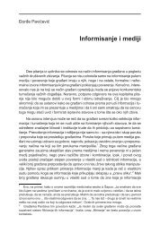 Informisanje i mediji - komunikacija