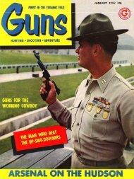 GUNS Magazine January 1959