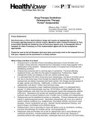 Drug Therapy Guidelines: Osteoporosis Therapy Forteo (teriparatide)