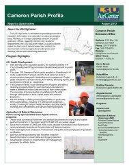 Cameron Parish Profile - The LSU AgCenter